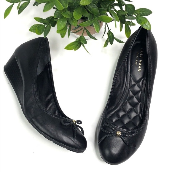 Cole Haan Shoes - Cole Haan | Tali grand lace wedge black leather